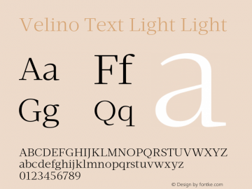 Velino Text Light