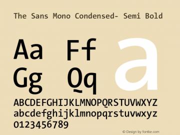 The Sans Mono Condensed- Semi