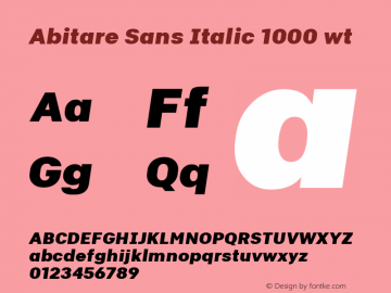 Abitare Sans Italic