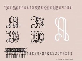 Vine MonogramsOpen Bold