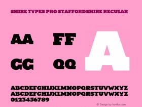 Shire Types Pro Staffordshire