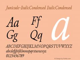 Junicode-ItalicCondensed