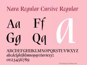 Nara Regular Cursive