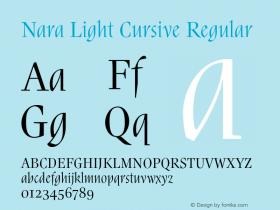 Nara Light Cursive
