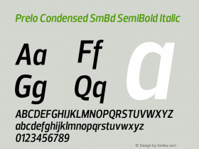 Prelo Condensed SmBd