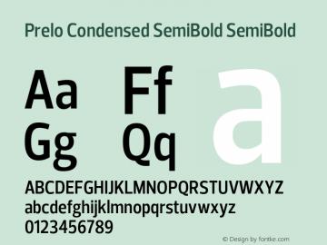 Prelo Condensed SemiBold