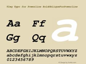 Tlwg Typo for Powerline