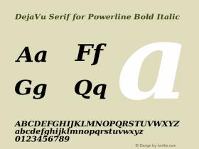 DejaVu Serif for Powerline