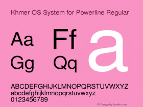 Khmer OS System for Powerline