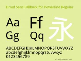 Droid Sans Fallback for Powerline