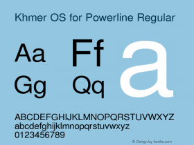 Khmer OS for Powerline