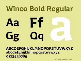 Winco Bold