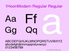 1HoonModern Regular
