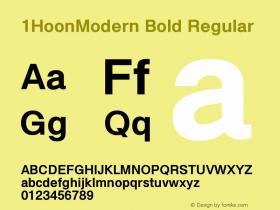 1HoonModern Bold
