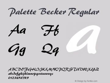 Palette Becker