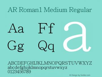 AR Roman1 Medium