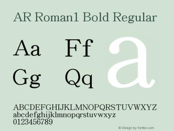 AR Roman1 Bold