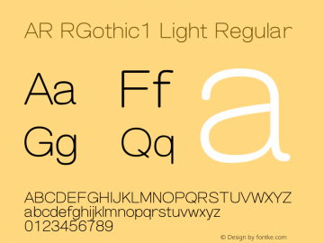 AR RGothic1 Light