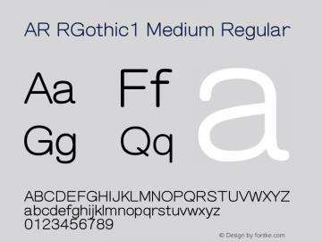 AR RGothic1 Medium