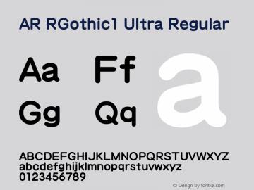 AR RGothic1 Ultra
