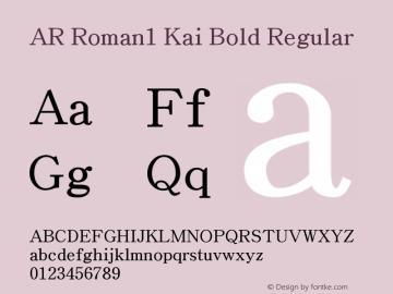 AR Roman1 Kai Bold