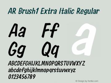 AR Brush1 Extra Italic