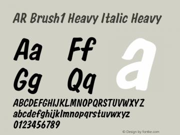 AR Brush1 Heavy Italic