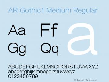 AR Gothic1 Medium