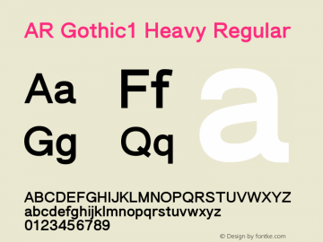AR Gothic1 Heavy