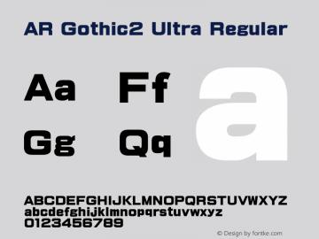 AR Gothic2 Ultra