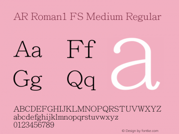 AR Roman1 FS Medium