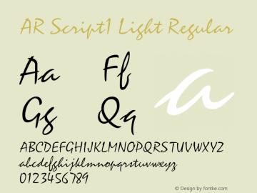 AR Script1 Light