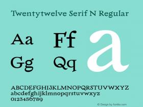 Twentytwelve Serif N