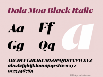 Dala Moa Black