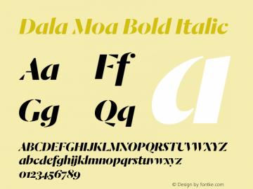 Dala Moa Bold