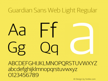 Guardian Sans Web Light