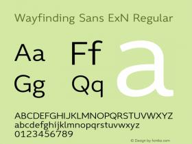 Wayfinding Sans ExN