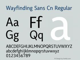 Wayfinding Sans Cn