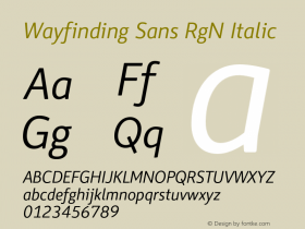 Wayfinding Sans RgN
