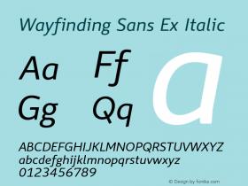 Wayfinding Sans Ex