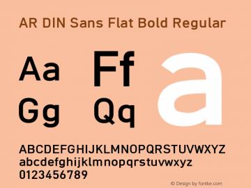 AR DIN Sans Flat Bold