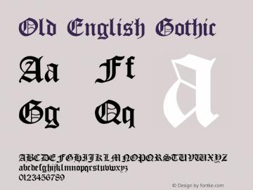 Old English Gothic