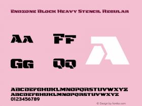Endzone Block Heavy Stencil