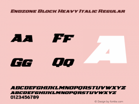 Endzone Block Heavy Italic