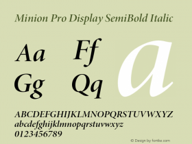 Minion Pro Display