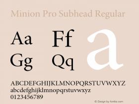 Minion Pro Subhead