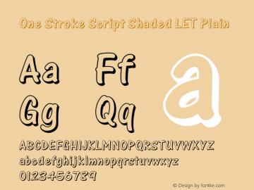 One Stroke Script Shaded LET