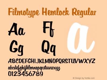 Filmotype Hemlock