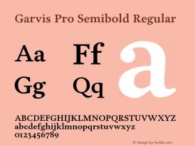 Garvis Pro Semibold