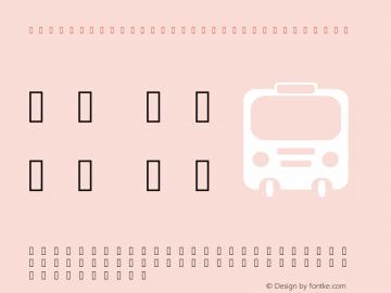 Transportation Iconfonts